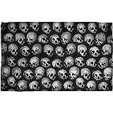 Skulls Beach Towel White 36X58