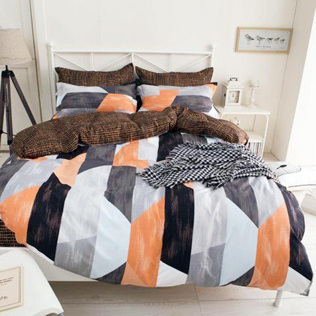 MSE Model(Made In India) Stylish Zurich Print Comforter Cotton Double Bed Comforter (Size:230250 Cm Approx) With Bed Sheets And 2 Pillow Queen Multi