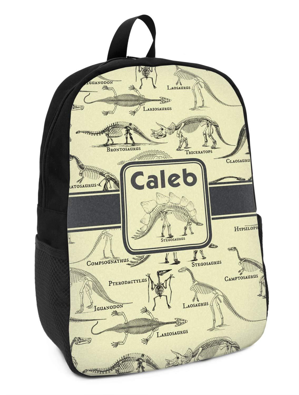 Dinosaur Skeletons Kids Backpack Personalized