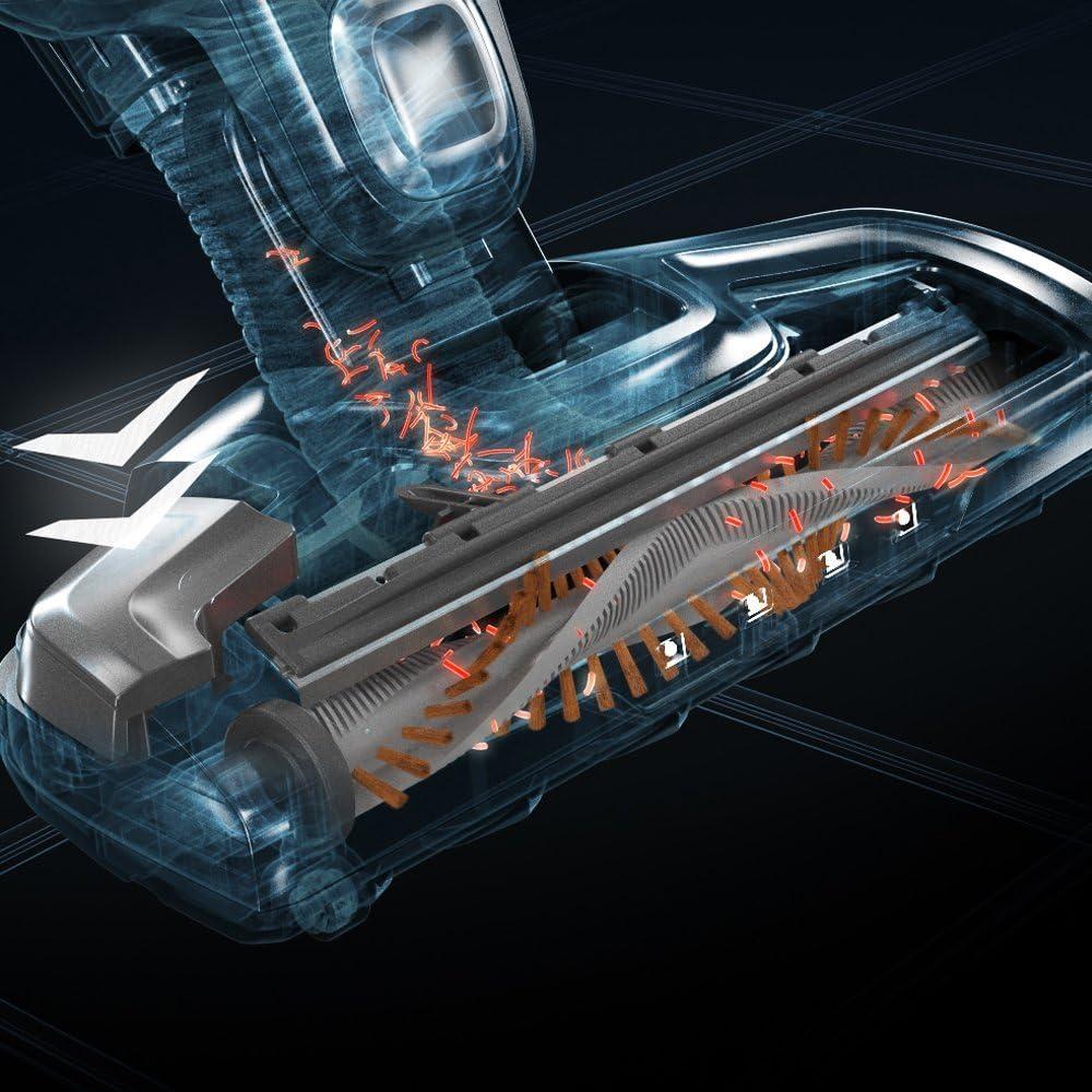 ErgoRapido Electrolux Aspirateur Balai 2 en 1 sans fil Aspirateur /à main batterie lithium-ion 18 V Chocolate metalizado