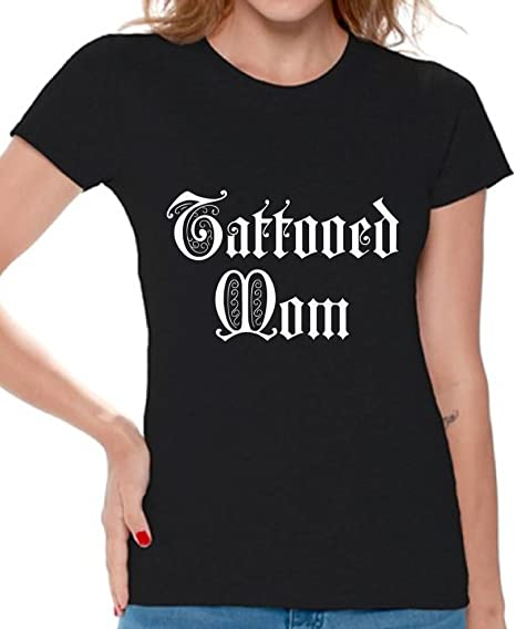 fde0ba32 Awkward Styles Tattooed Mom Tshirt for Women Best Mom Gifts Inked Mom Shirt  Black S