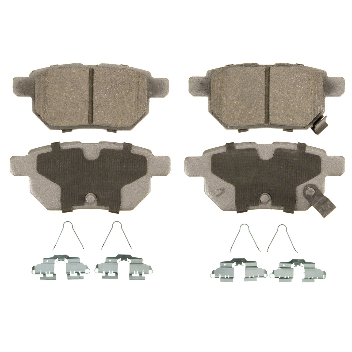 Wagner ThermoQuiet QC1423 Ceramic Disc Pad Set With Installation Hardware, Rear