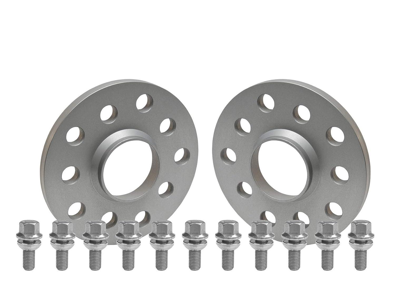 2x20mm SCC Fahrzeugtechnik Distanzscheiben Set 40mm Silber eloxiert mit Radschrauben f/ür Audi//Seat//Skoda//VW