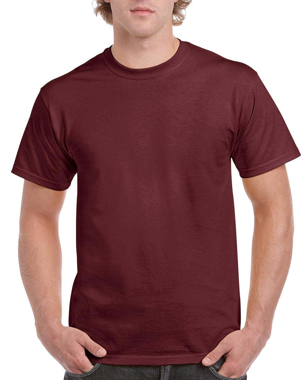 (ギルダン) Gildan メンズ ウルトラコットン クルーネック 半袖Tシャツ トップス 半袖カットソー 定番アイテム 男性用 B01LXGCH4A  マロン XXXL