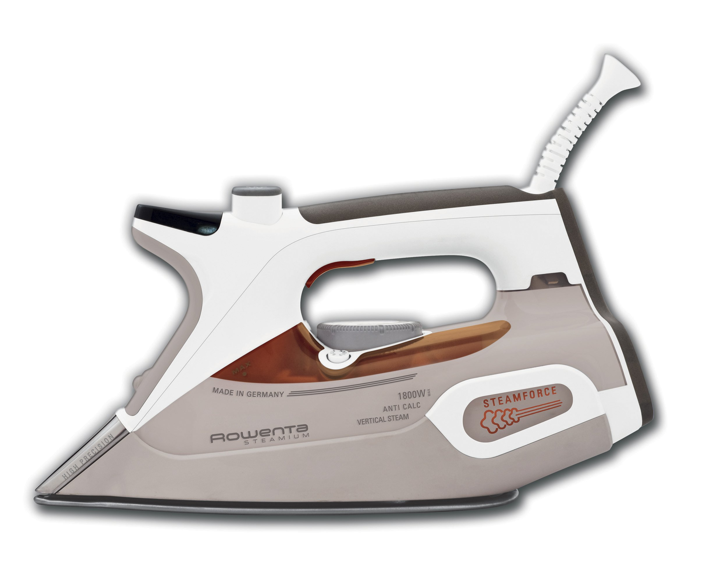 Rowenta DW9081 Steamium 1800-Watt Professional Steam Iron with LCD screen Stainless Steel Soleplate with Auto-Off, 400-Hole, Brown by Rowenta