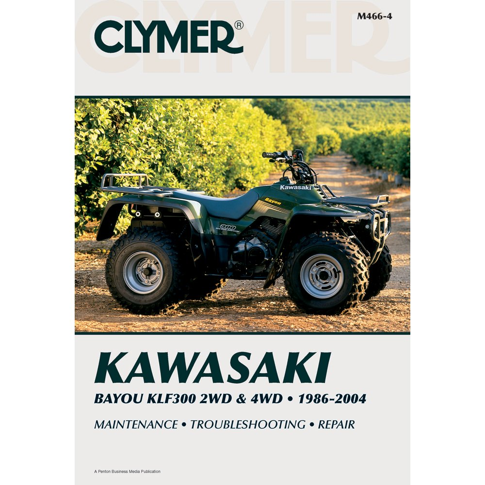 Amazon.com: CLYMER ATV REPAIR MANUAL - KAWASAKI KLF 300 - 1986-2004  _M466-4: Automotive
