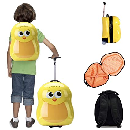 Compacto de 2 piezas niños equipaje, maletas y niños Mochila, para vacaciones equipaje de