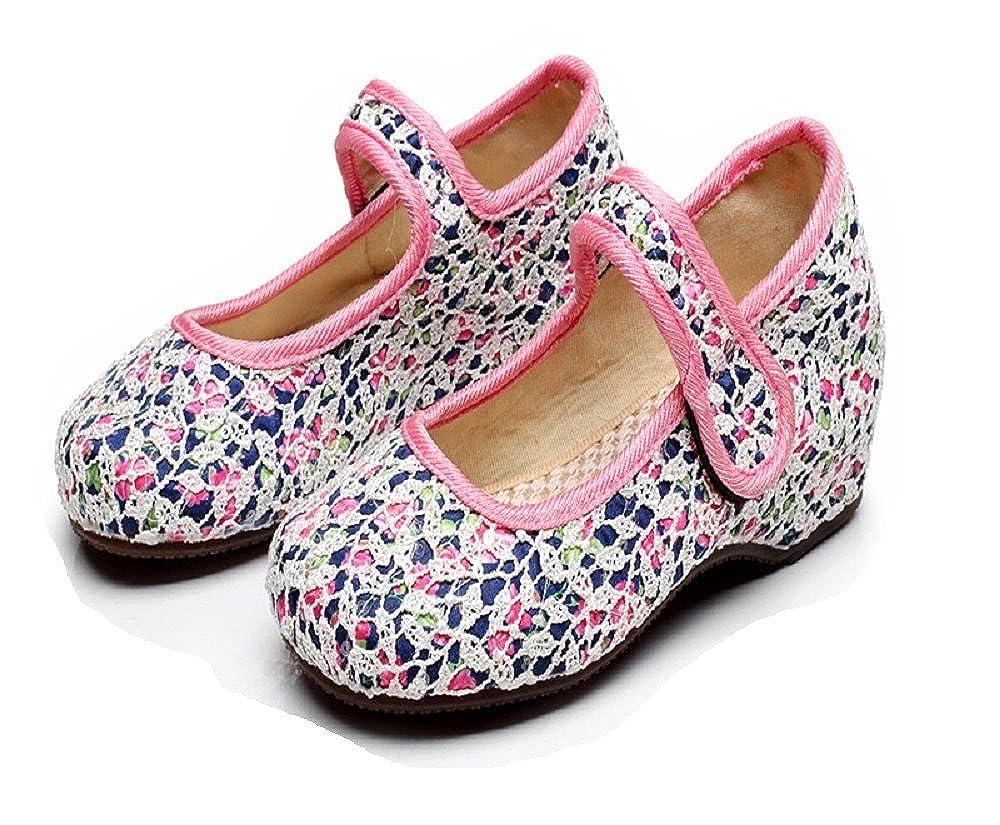 Tianrui Crown Girls Lace Casual Traveling Shoes Sneaker Kids Cute Mary-Jane Shoe