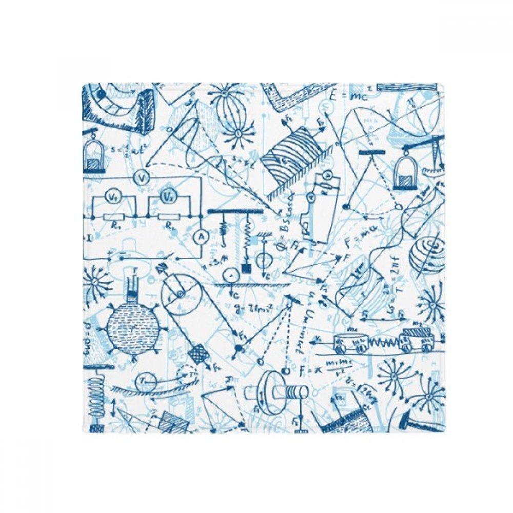 DIYthinker bluee Physical Electromagnetic Mechanics Chart Anti-Slip Floor Pet Mat Square Home Kitchen Door 80Cm Gift