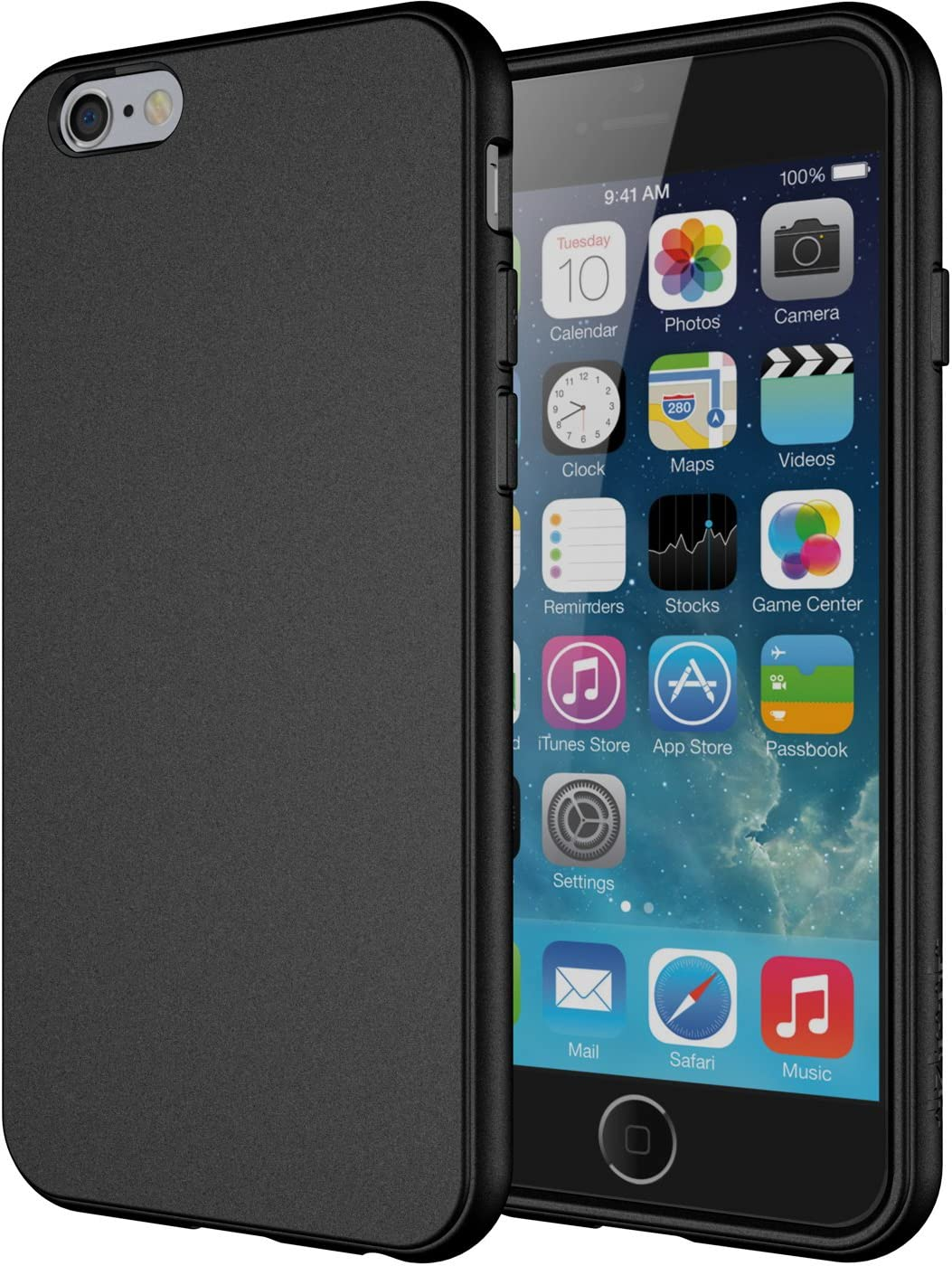 "iPhone 6s Case, Diztronic Full Matte Soft Touch Slim-Fit Flexible TPU Case for Apple iPhone 6 & iPhone 6s (4.7"") - Black"