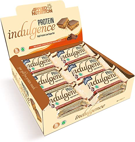 Applied Nutrition Proteína Indulgence 12 Bares, Caramelo de Avellana 600 g