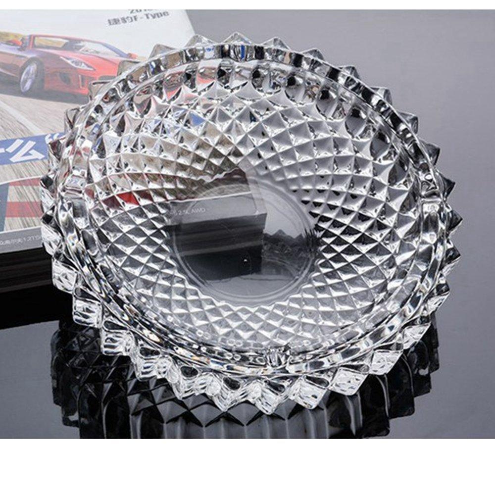 jenifer2015 Large Classic Square Ashtray 5.9//Glass Ashtray Smoke Collectible Tribal Decoration