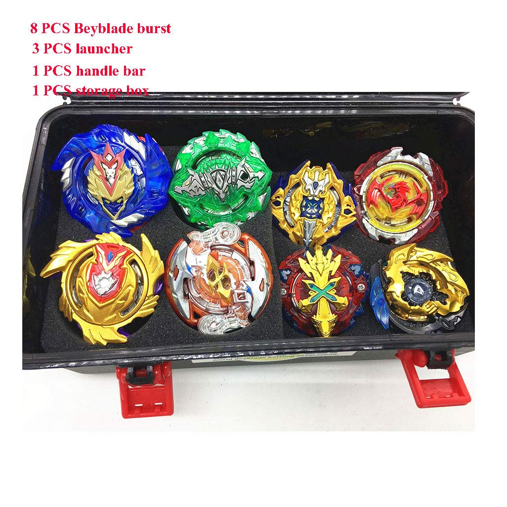 JIENI Beyblade Burst Starter - Beyblade Burst Gyro Set (8 Battling Top + 3 Launcher) Puzzle Creative Educational Gift Toy - Launcher Battle Game Tops Combination Set by JIENI (Image #2)