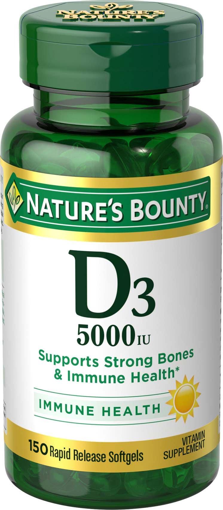 Nature's Bounty Vitamin D3 5000 IU, 150 Softgels