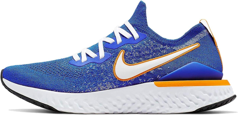 Amazon.com | Nike Epic React Flyknit 2 Mens Cj5228-400 Size 12.5, Racer  Blue/White-black-orange Peel | Road RunningAmazon.com