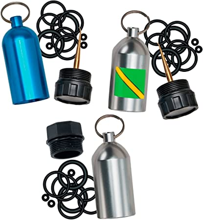 12 Rubber O-Rings Accessories IPOTCH Scuba Diving Diver Tank Cylinder Key Ring with Brass Pick