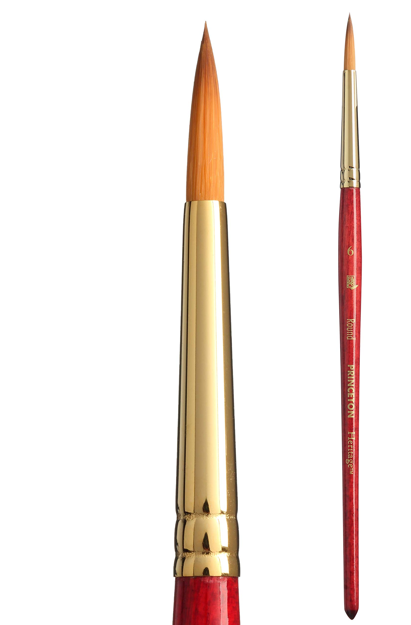 Princeton Heritage, Series 4050, Synthetic Sable Paint Brush for Watercolor, Round, 6