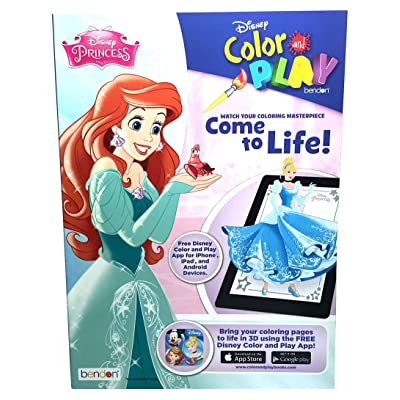 Princess Disney Come to Life! Color Play Book -96p: Toys & Games