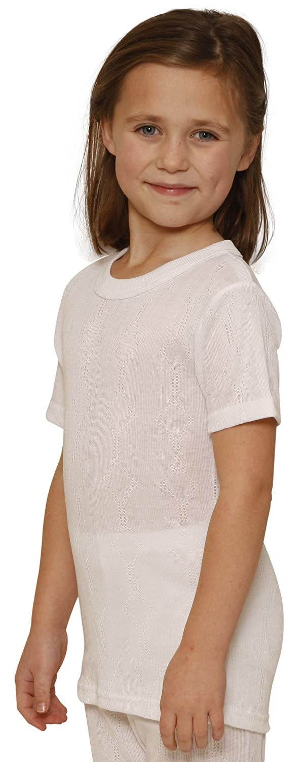 OCTAVE® Girls Thermal Underwear Short Sleeve T-Shirt / Vest / Top