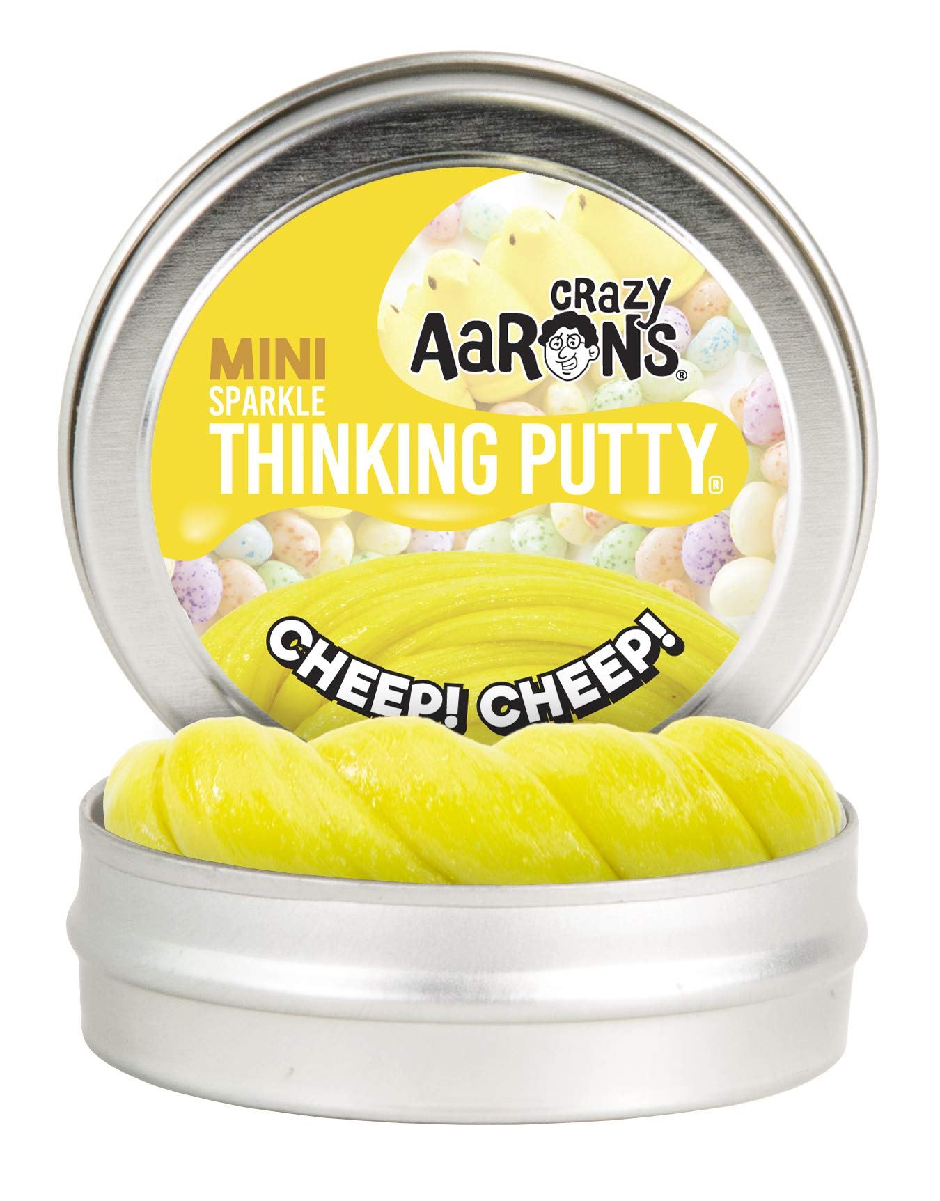 Crazy Aaron's Thinking Putty - Easter Trio 12 Pack - Spring Showers, Fresh Grass and Cheep Cheep Sparkle 2'' Mini Tins - Perfect as Easter Basket Stuffer! by Crazy Aaron's (Image #4)