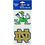 "NCAA Notre Dame Fighting Irish 2-Piece Die Cut Decal, 4"" X 8"""
