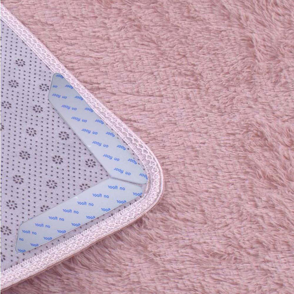 Rug Gripper for Wooden Floors Anti Curling Non Slip Rug Gripper Carpet Sticker