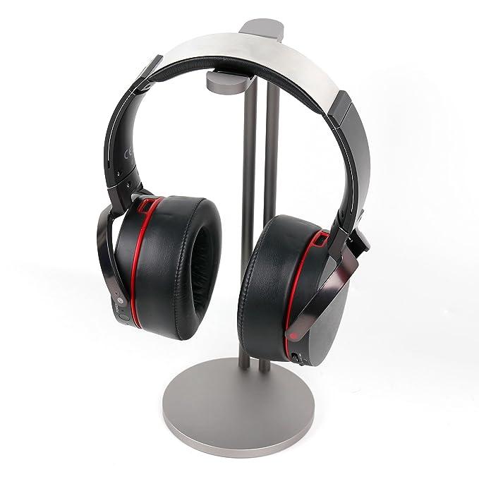DURAGADGET Soporte de acero para auriculares Marshall Major II/Mad Catz F.R.E.Q.9/Tritton Swarm/MD Sound Labs Neoh. Color plateado.: Amazon.es: Electrónica