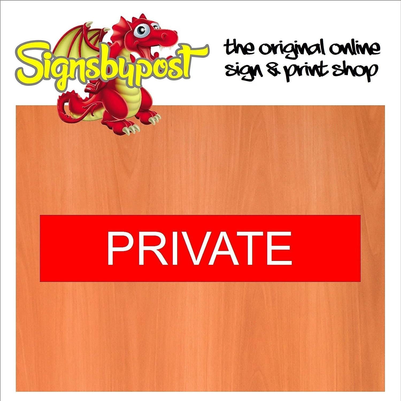 Cartel de puerta de palo privado de 30 cm x 6 cm Pub Office ...