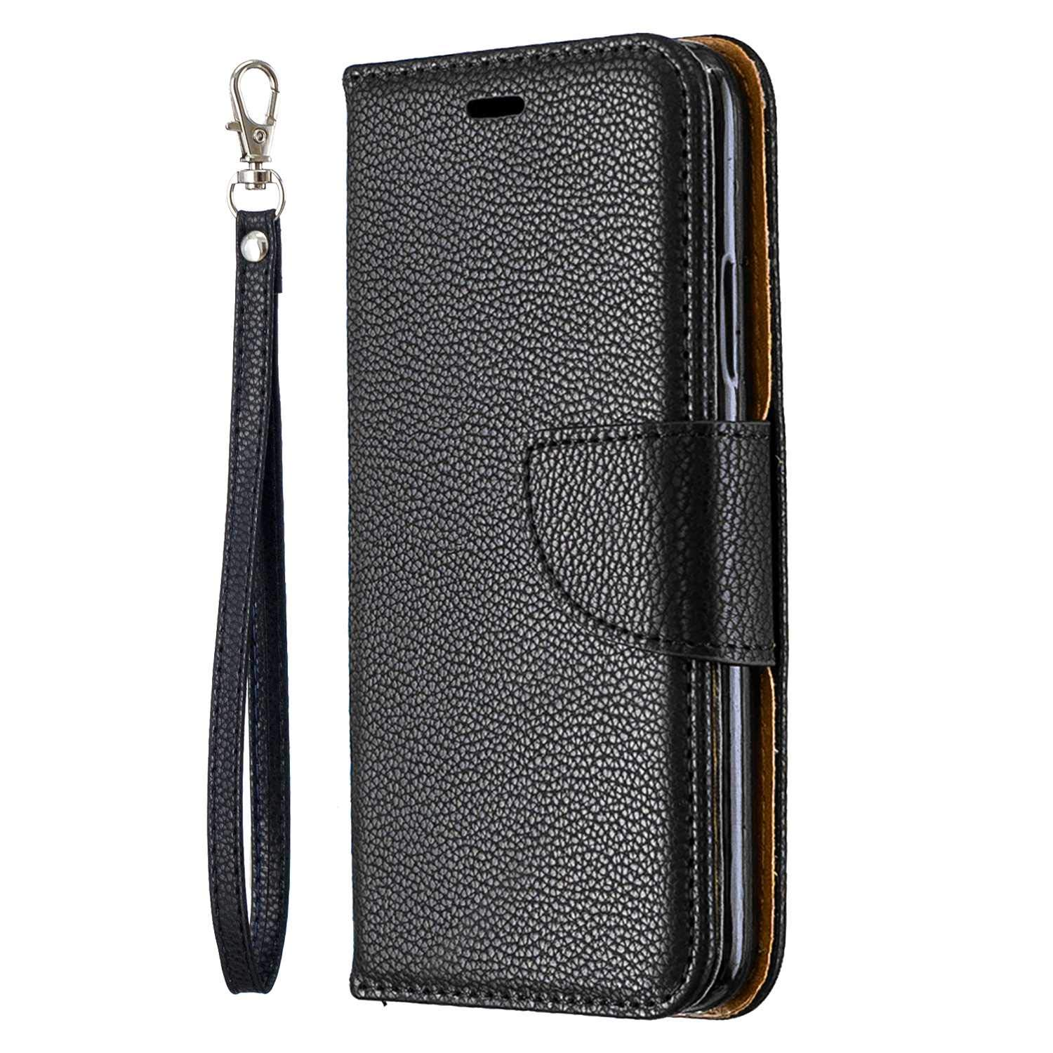 iPhone 7 // iPhone 8 Case Flip Case Full Body Protective Case Blue CUSKING Magnetic Wallet Case for Apple iPhone 7 // iPhone 8 with Card Slot and Hand Strap
