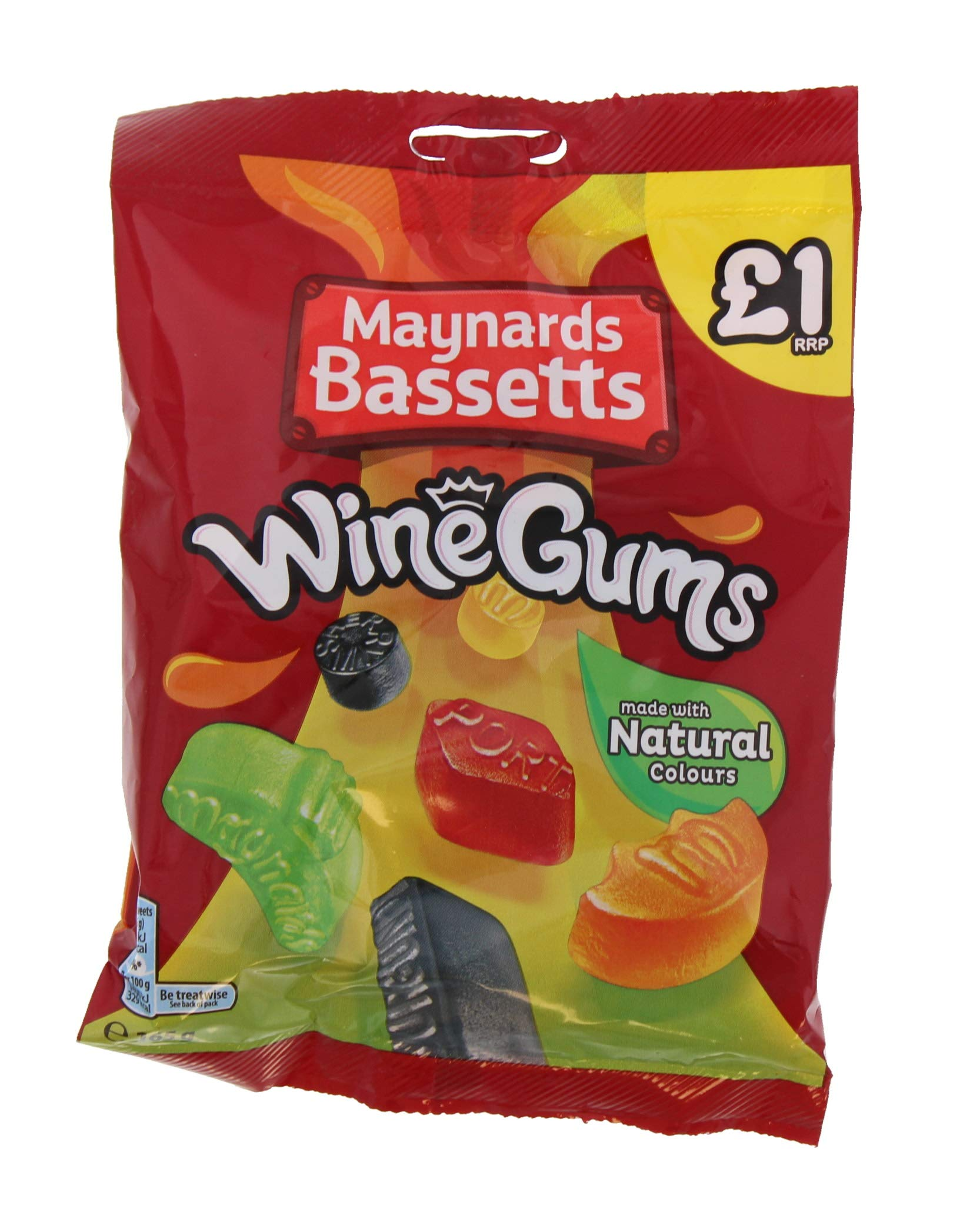 Maynards Bassetts Wine Gums £1 Sweets Bag (165g x 12)