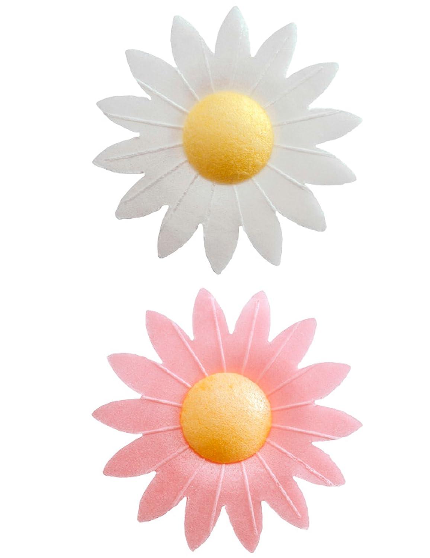 Generique - 8 decorazioni per dolci fiori in ostia Taglia Unica