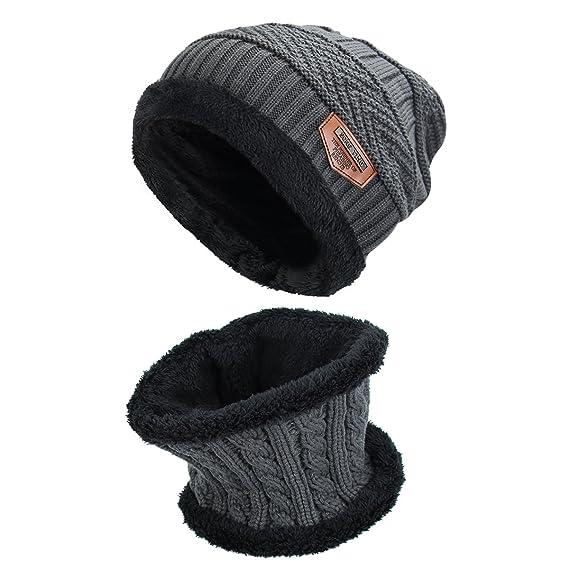 Sombrero de invierno, sombreros para mujeres y hombres ,Gorras Con Bufanda  y Gorros de punto Sombreros de Suave Encantador Invierno de lana:  Amazon.es: Ropa ...