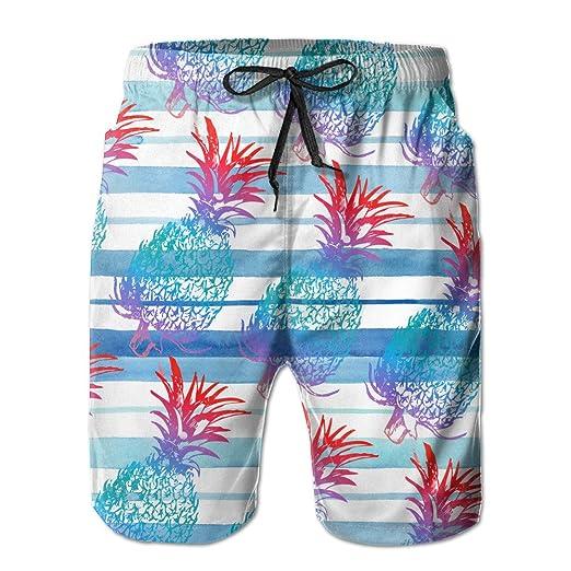 a92c642cac Summer PINEAPPLES Art Print Elastic Waist Men Boardshorts Quick ...