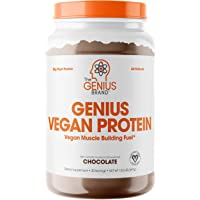 Genius Vegan Protein Powder – Plant Based Lean Muscle Building Shake | Best Pea + Pumpkin Protein Sources – Ideal Lean…