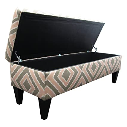 Sole Designs Nouvea Collection Upholstered Storage Bench With Built In  Storage, 56u0026quot;x19u0026quot;