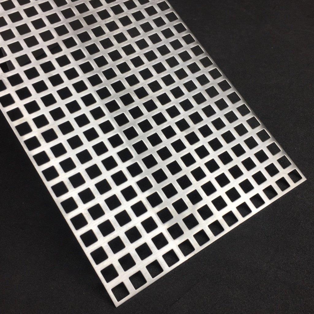 Lochblech Edelstahl QG10-15 V2A K240 1,5mm Zuschnitt individuell auf Ma/ß NEU g/ünstig 500 mm x 100 mm