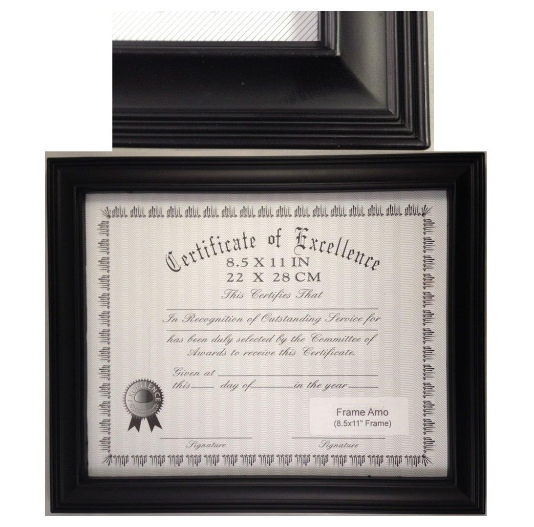 Rahmen Amo schwarz 8,5 x 11 Zertifikat Dokument Rahmen, 2,5 cm multi ...