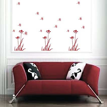 Kayra Decor Flying Dandelions Reusable Wall Stencil for Wall Decor/DIY Painting Stencil/Durable Than Wall Stickers in (16 X 24) Inches (Plastic Sheet)