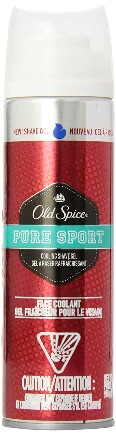 Old Spice Gel Male Shave Prep 7-Ounce Pure Sport