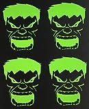 C60448 (Lime Green) small RC Hulk 2.4x2 (4Pack)