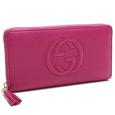0083c2ca0ff Amazon.com  Gucci Soho Large leather zip around wallet Pink Bright  Bouganvillia New  Shoes