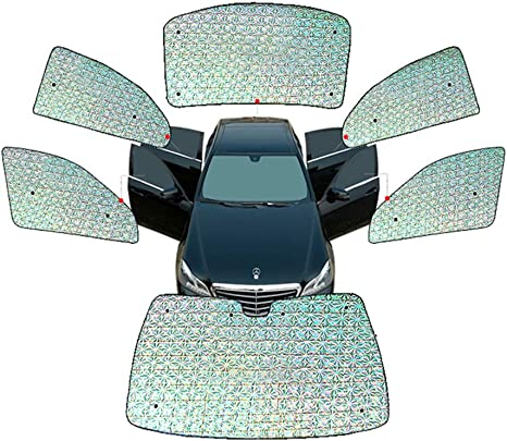 6pcs Car SUV Window Screen Sunshade Cover Front//Back//Side Windshield Sun Visors