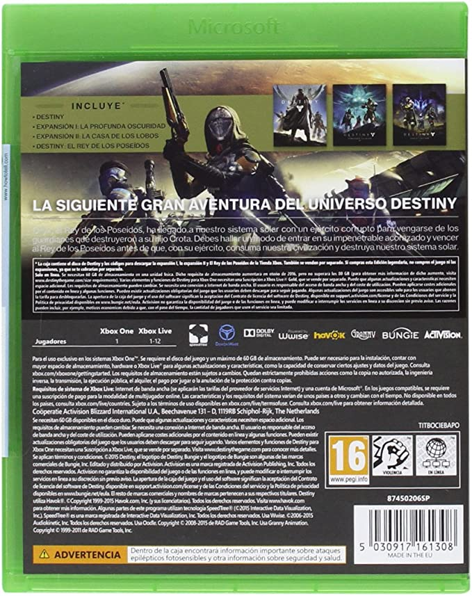 Destiny: El Rey De Los Poseídos - Edición Legendaria: Amazon.es: Videojuegos