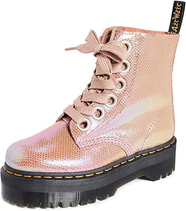 Dr.Martens Damen Molly Rainbow Leather Stiefel: