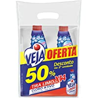 Limpador Tira Limo Veja X14 para Banheiro 500ml 2 unidades com 50% de desconto na 2ª