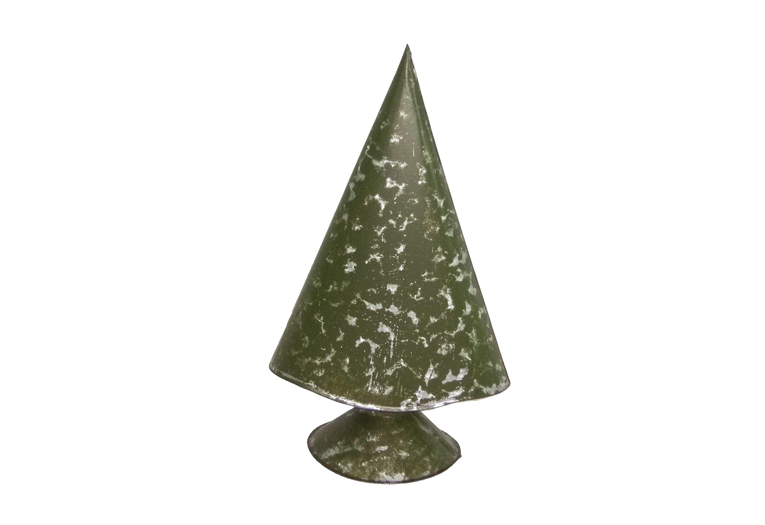 Medium Moss Green Metal Christmas Tree