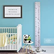 Back40Life - Premium Series - (Loved Beyond Measure) Wooden Growth Chart Height Ruler (Weathered White)