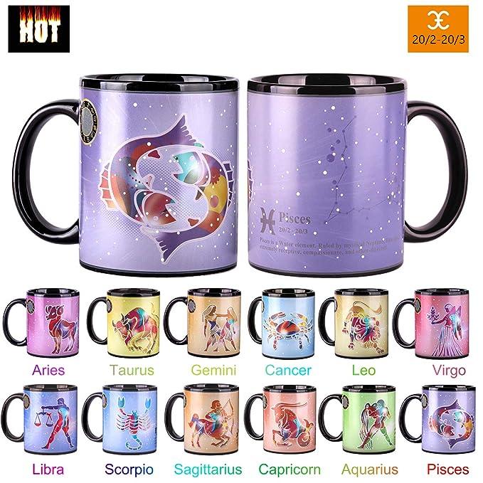 Amazon.com: Taza de constelación que cambia de calor, de ...