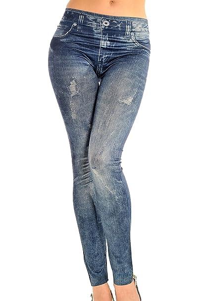 861c2da4c1 Lettre d amour Completos forrados Jeans Mujer ven pantalones ajustados  leggins Slim Blue One Size  Amazon.es  Ropa y accesorios