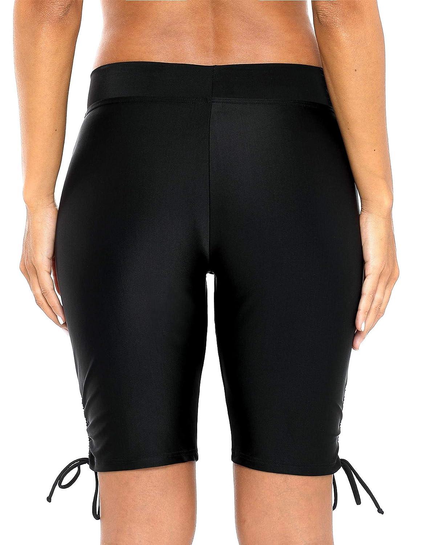 V FOR CITY Womens Swim Boardshort Bathing Suit Bottom High Waisted Tankini Swimwear Shorts